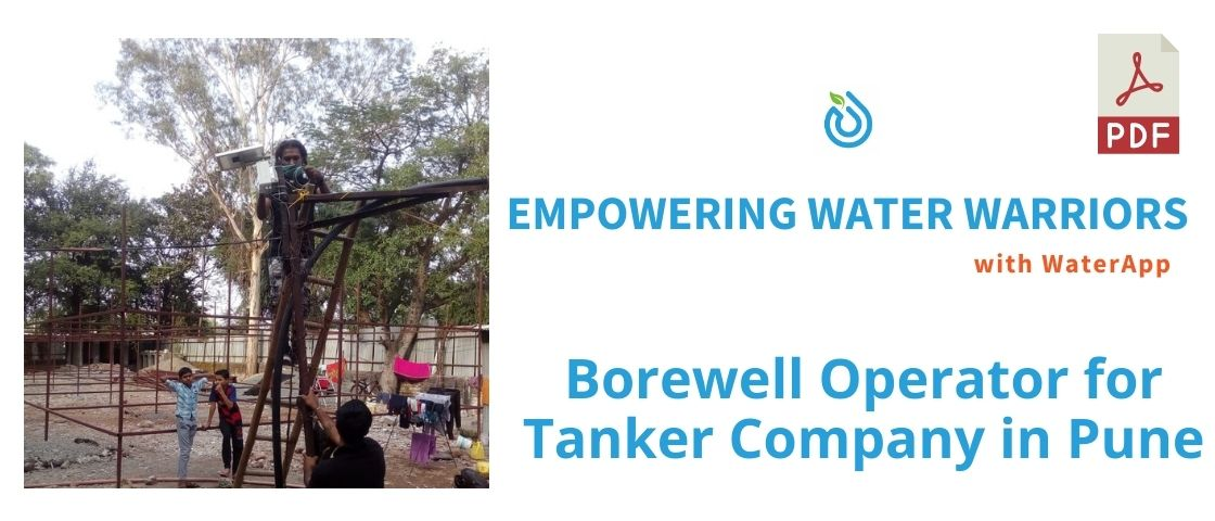 Borewell Operator for Tankers Company in Pune Case Study