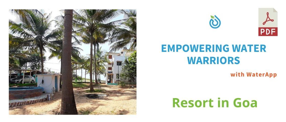 Resort in Goa Case Study - WaterApp